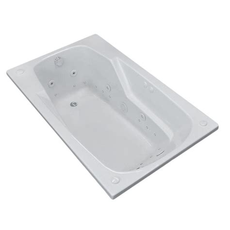5 foot whirlpool bathtub universal tubs coral 5 ft whirlpool and air bath tub in white hd3260edl the home depot