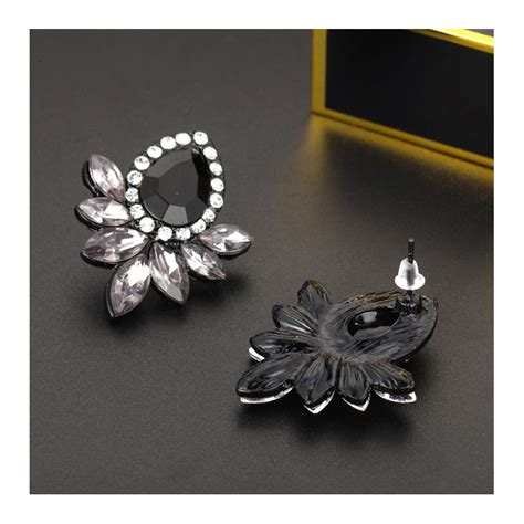 Rhinestone Stud Earrings black rhinestone earrings