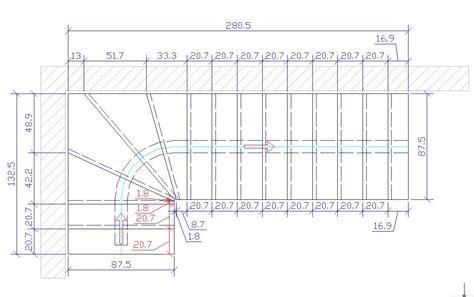 Plan De Travail Central 4418 by Calcul Escalier 1 4 Tournant