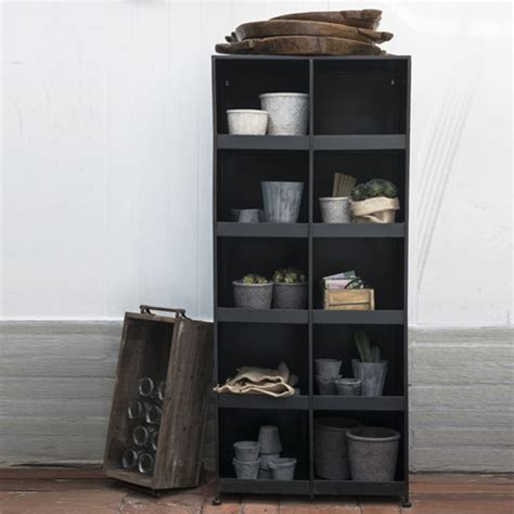Bibliotheque Metal Noir 2356 by Biblioth 232 Que 10 Niches En M 233 Tal Patin 233 Noir Ib Laursen