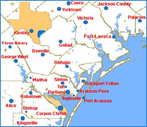 texas coastal map map of texas gulf cities cakeandbloom