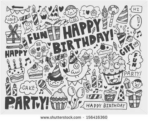 cake doodle ideas happy birthday draw vectores en stock y arte vectorial