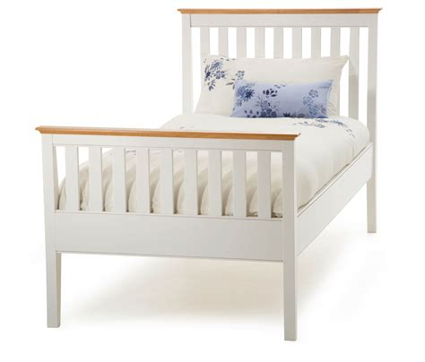 Single Bed White Frame Home Decorating Pictures Single White Bed Frame
