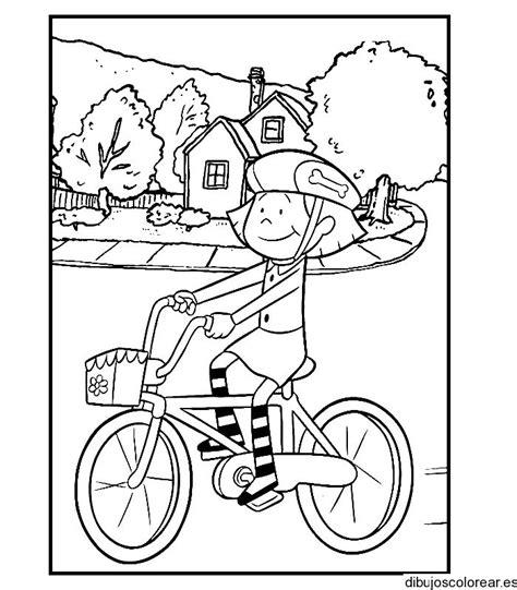 imagenes niños manejando bicicleta ni 241 o en bicicleta para colorear imagui