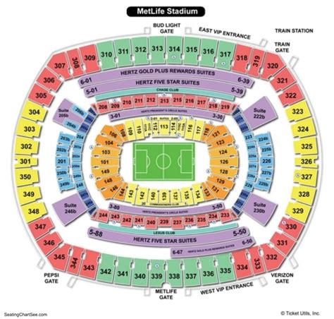 metlife stadium parking map metlife stadium seating chart seating charts and tickets
