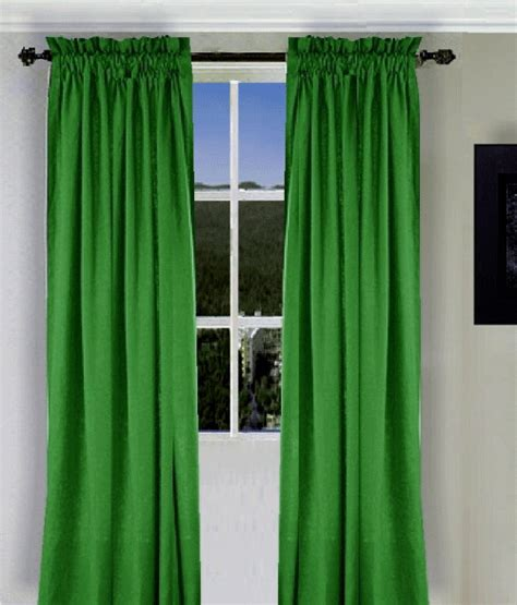 the green curtain kelly green long curtain set