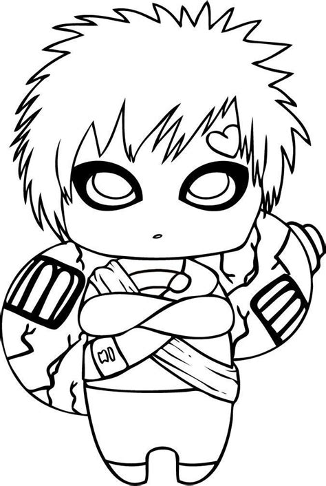 naruto gaara coloring pages 25 best images about naruto coloring pages on pinterest