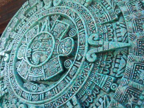 Calendario Azteca Y Fotos Calendario Azteca Hecho En Piedra De Malaquita En 3 D