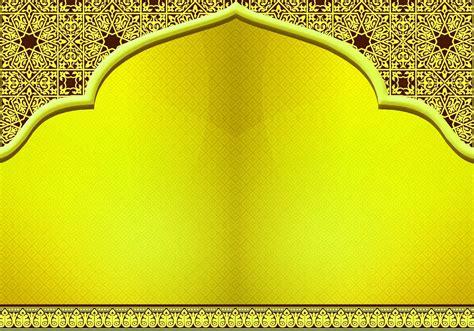 Desain Brosur Islami | background cantik untuk brosur denah rumah