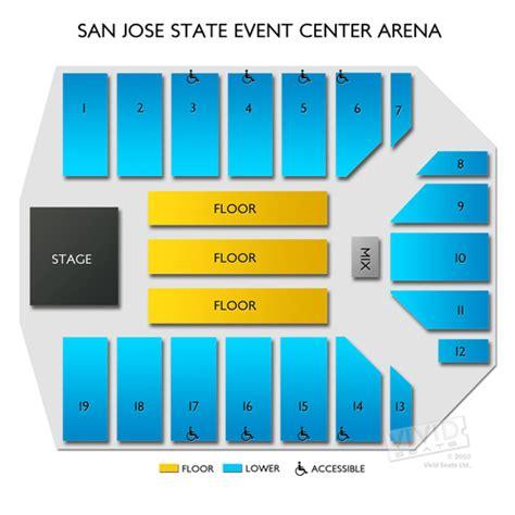 san jose event center map san jose state event center arena seating chart seats