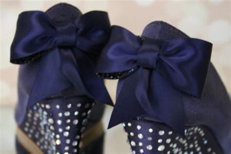 Navy Blue Wedge Wedding Shoes by Silver Wedding Wedge Excellent Shop Fashion Bridal