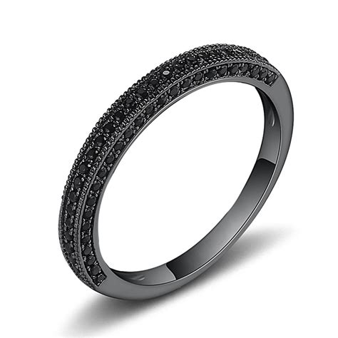 Black Saphire cut black sapphire black sterling silver wedding