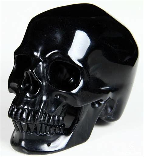 black obsidian volume 2 5 2 quot black obsidian carved skull