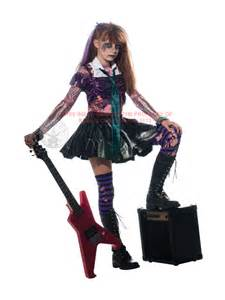 scary halloween costumes for girls child zombie punk rocker fancy dress costume halloween