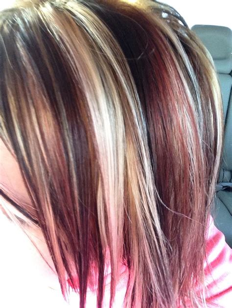 hair foil color ideas best 25 red foils hair ideas on pinterest red peekaboo