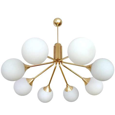 modernist 1960s stilnovo style glass globes chandelier