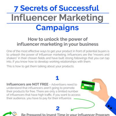 7 Secrets Of Successful by Infographic 7 Secrets Of Successful Influencer Caigns
