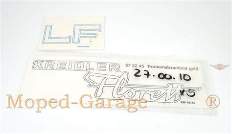 Moped Verkleidung Aufkleber by Moped Garage Net Kreidler Florett Lf Seitendeckel