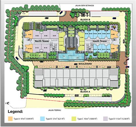 residential site plan 1tebrau one for all all in one