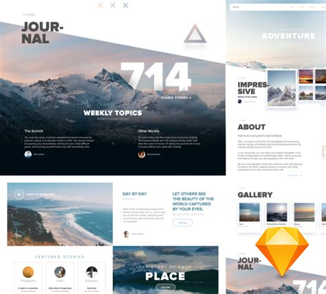 Wild Free Adventure Website Template For Sketch Freebiesui Adventure Website Templates