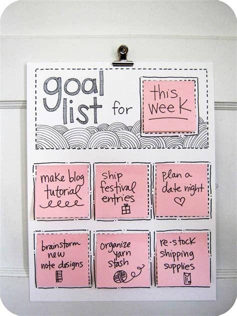 goal poster template goal organizer poster free printable melyssa griffin