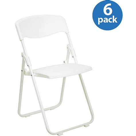 Plastic Chairs Walmart by Premium White Plastic Folding Chair Set Of 6 Walmart