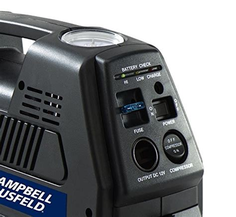 portable  volt inflator rechargeable air compressor  tire inflation  psi campbell
