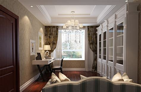 dining room furniture and wallpaper neo classical style 3d house