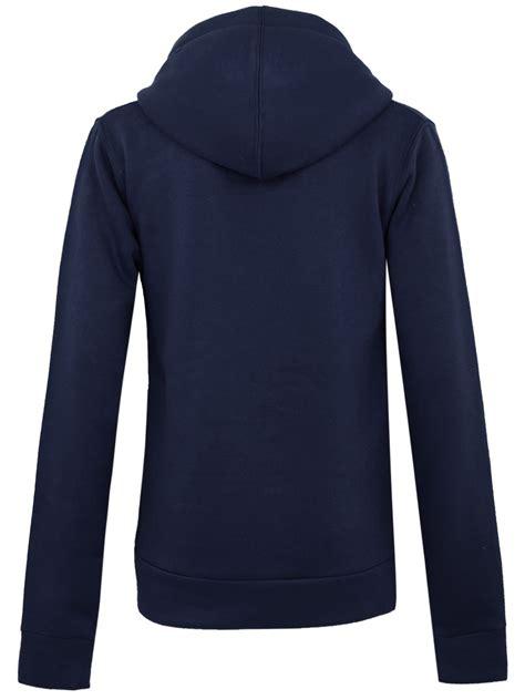 Plain Zip Detail Zip Jacket womens plus sizes plain zip hoodie zip top hooded