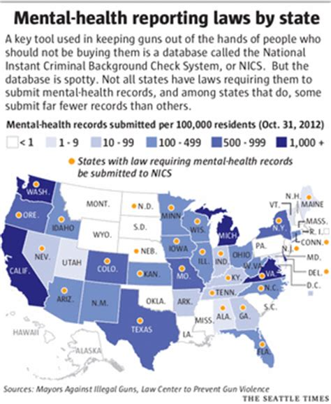 Mental Health Gun Background Check State Found Better Than Most On Gun Owner Mental Health Checks The Seattle Times