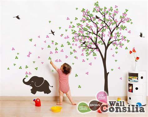 baum sticker kinderzimmer baby kinderzimmer wandtattoo baum wall decal elefant
