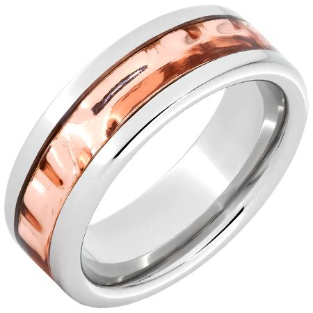 Wedding Bands Delaware by Serinium 174 Pipe Cut Band With Delaware Copper Inlay
