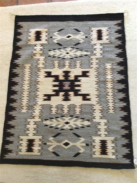 two grey rugs for sale navajo two grey pattern rug ebay