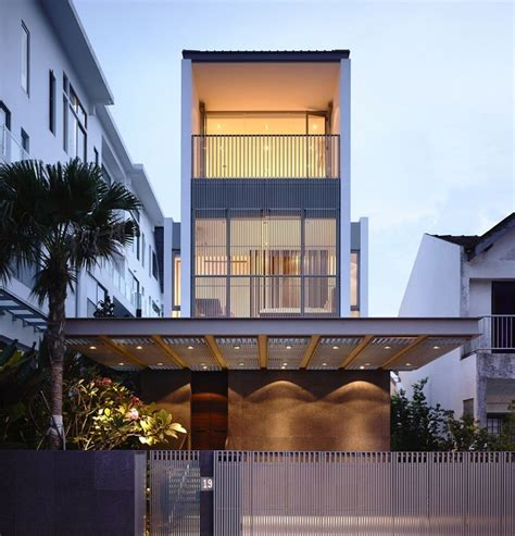 external facade of contemporary singapore residence by