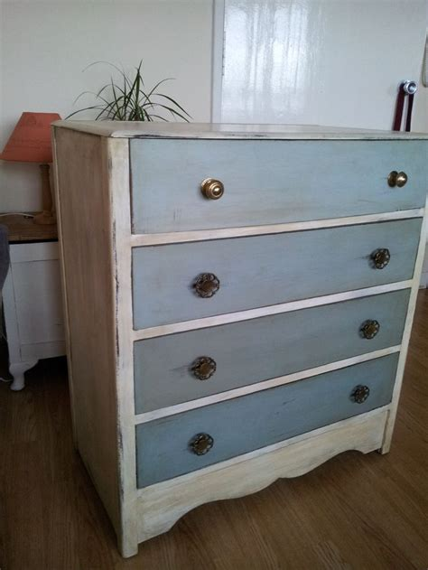 blue patterned chest of drawers vintage shabby chic beautiful and very original chest of