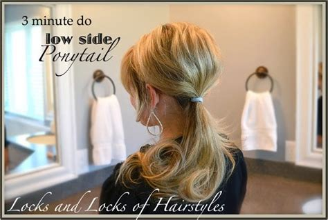 quick and easy hairstyles in a ponytail quick and easy hairstyles bumped side ponytail hair