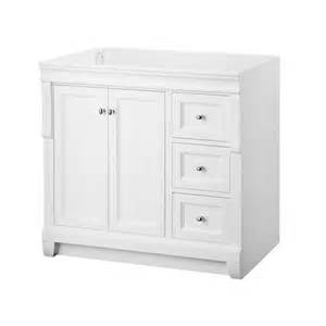White Vanity 36 Inch Home Decorators Collection Naples 36 In W Vanity Cabinet
