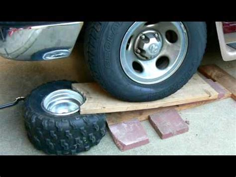 breaking bead on motorcycle tire how to an atv tire bead mov
