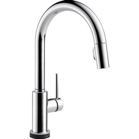 touch technology kitchen faucet delta trinsic single handle pull sprayer kitchen