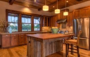 Cabin Style Kitchen Cabinets Rustic Kitchen Island With Looking Accompaniment