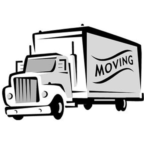 me a picture of a truck moving truck clipart