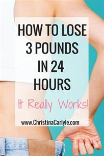 how to lose 3 pounds in a day naturally it really works