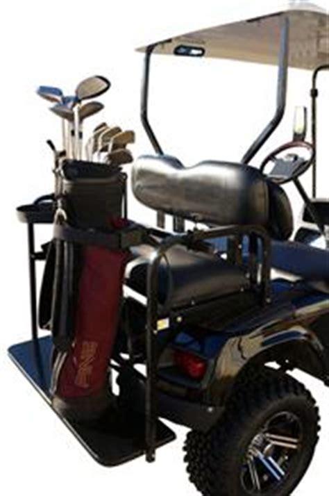 Golf Cart Bag Rack Attachment by Rear Seat Golf Cart Golf Bag Holder With Bracket