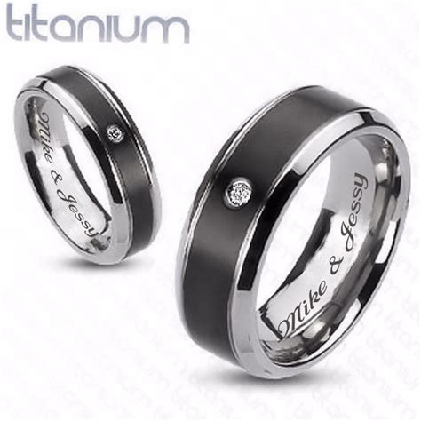 engraved rings personalized s rings titanium two