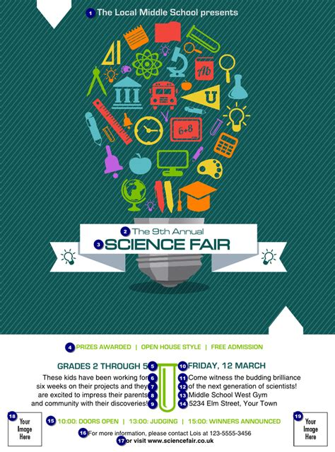 fair flyer template free science fair flyer ticket printing