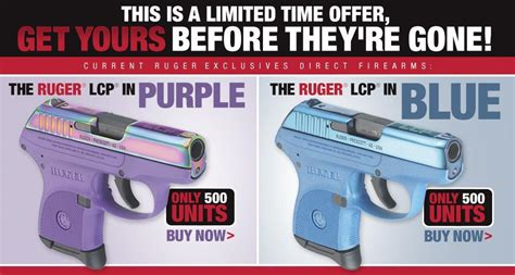 themes ltd real blue handguns ruger exclusives direct offer lcp in blue or purple