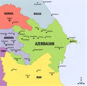 russia map azerbaijan map of azerbaijan travel map travelquaz
