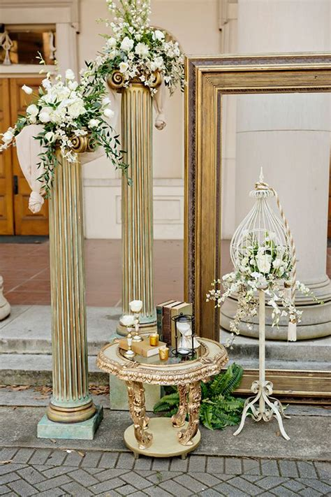 gold wedding ideas bow to a goddess gold grecian inspiration 꽃장식