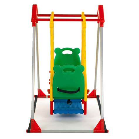 double baby swing kids swing playground children play area outdoor garden