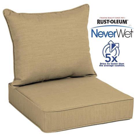 allen roth neverwet  piece wheat deep seat patio chair cushion  lowescom
